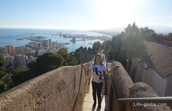 Fortress Alcazaba and Gibralfaro - a monumental ensemble of Malaga