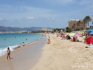 Пляж Кан Пере Антони, Пальма (Platja de Ca'n Pere Antoni) - центральный пляж Пальмы