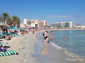 Пляж Плайя-де-Пальма, Майорка (Playa de Palma)