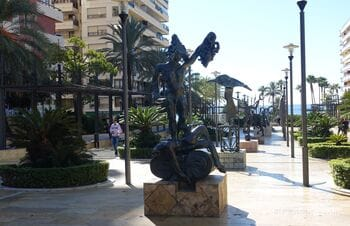Avenida del Mar, Marbella - boulevard with sculptures by Salvador Dali