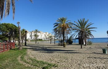 Marbella beaches. Coastline of Marbella