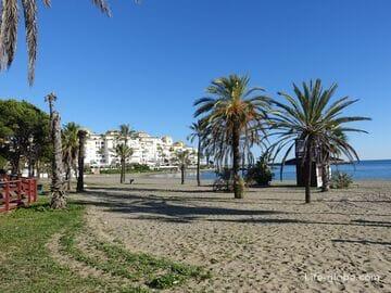 Marbella beaches. Coastline of Marbella
