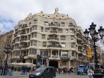 Дом Мила (Ла-Педрера) в Барселоне - частичка роскоши от Гауди