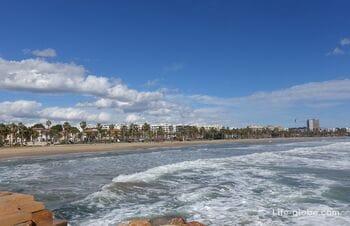 Пляж Левант в Салоу (Playa Llevant) - главный пляж Салоу