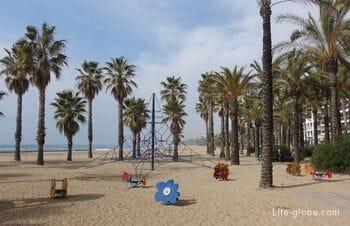 Пляж Понент, Салоу (Playa Ponent) - второй по популярности в Салоу