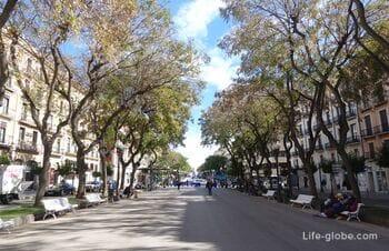 Улица Рамбла Нова, Таррагона (Rambla Nova) - главная улица города