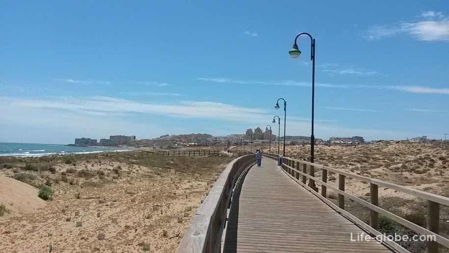 Подвижные песчаные дюны, Торревьеха