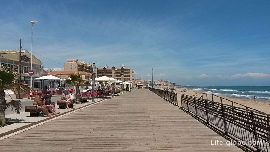 Пляжи Торревьехи - набережная Ла Мата