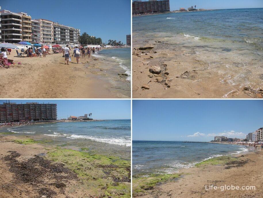 Центральная часть пляжа Лос Локос в Торревьехе