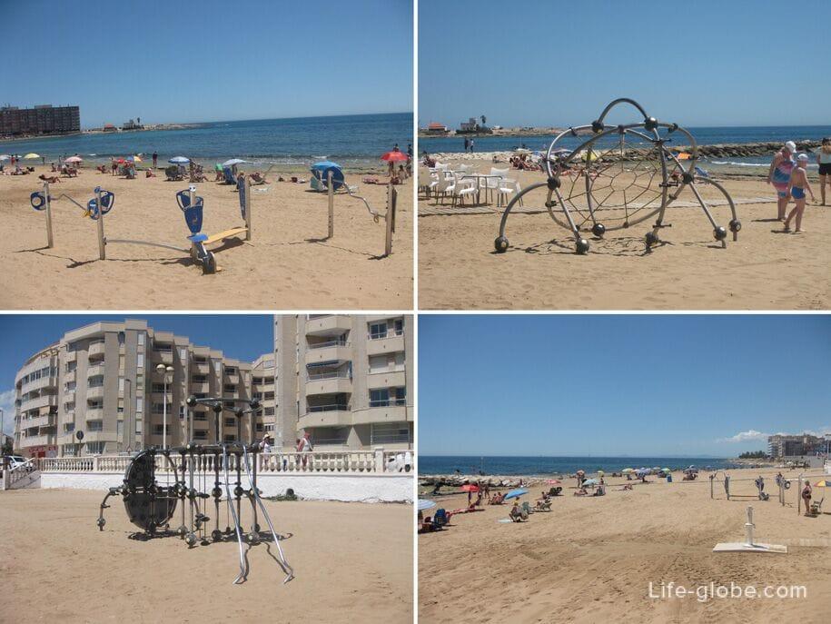 Инфраструктура пляжа Лос Локос в Торревьехе