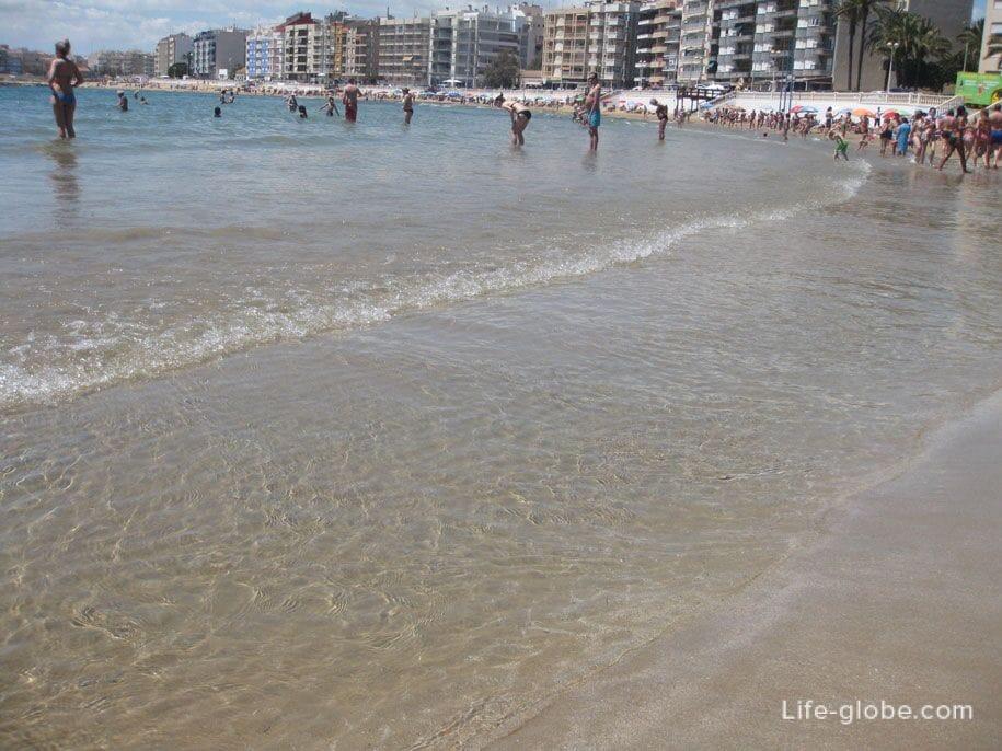 Морская вода, пляж Лос Локос, Торревьеха