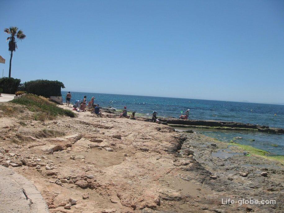 Северная часть пляжа Лос Локос, Торревьеха
