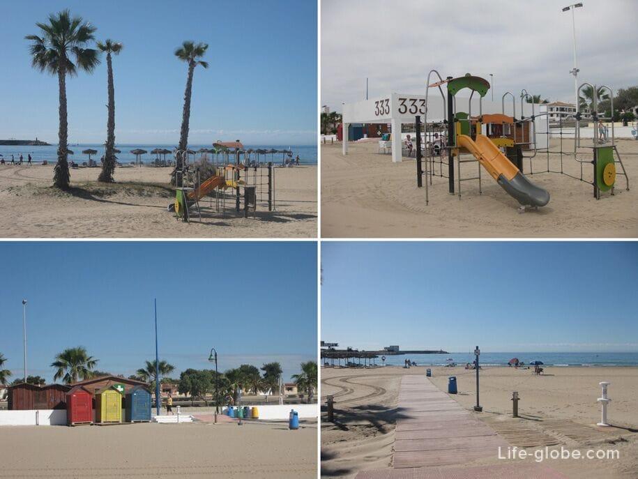Инфраструктура пляжа Науфрагос, Торревьеха
