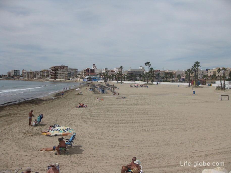 Пляж Науфрагос, Торревьеха