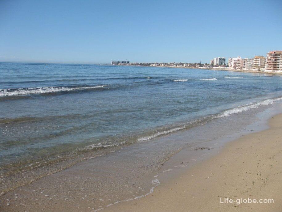 Морская вода, пляж Науфрагос, Торревьеха