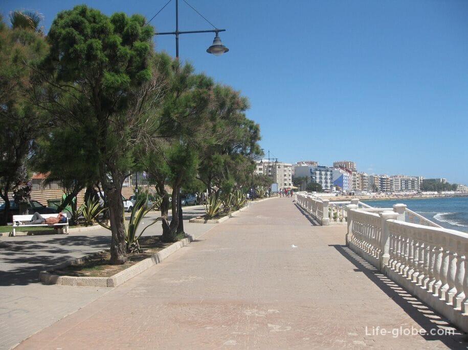 Пляжи Торревьехи - набережная