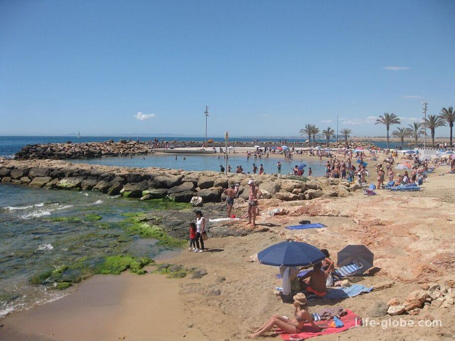 Пляжи в центре Торревьехи