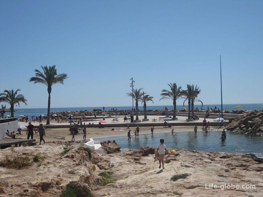 Пляжи Торревьехи - небольшие пляжики в центре Торревьехи