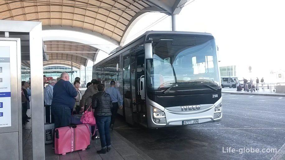 Автобус из аэропорта Аликанте в Торревьеху