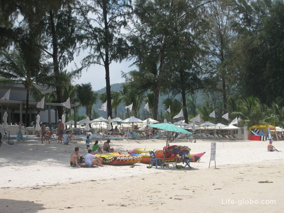 Beach and water activities at Bangtao Beach, Phuket