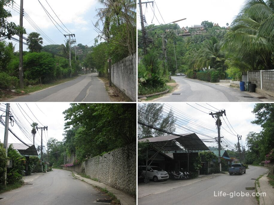 The road from Bang Tao Beach to Surin Beach