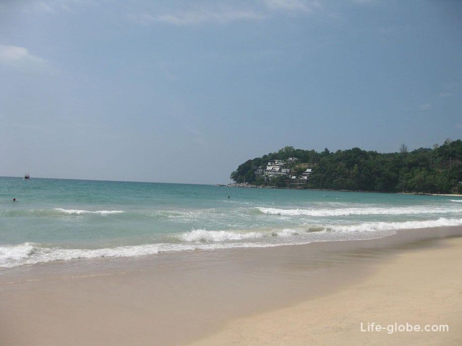 Water in the sea at Kamala beach, Phuket