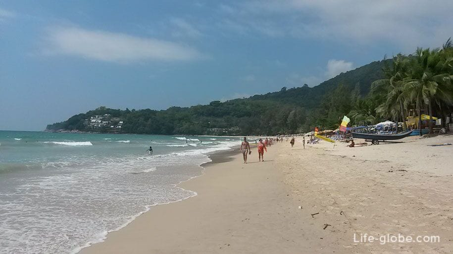 The central part of Kamala beach, Phuket island, Thailand