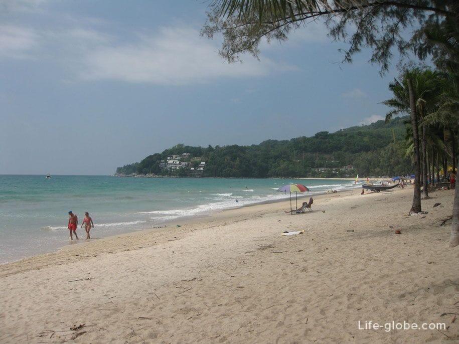 The central part of Kamala Beach, Phuket
