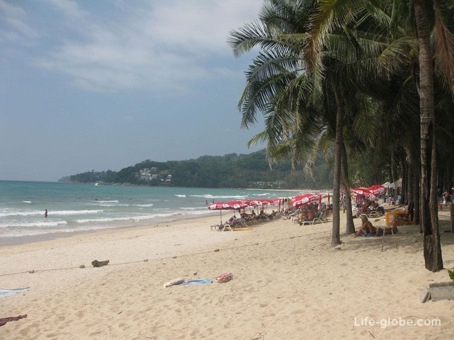 The central part of Kamala Beach in Phuket