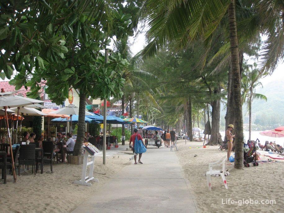 The central part of the promenade of Kamala Beach, Phuket