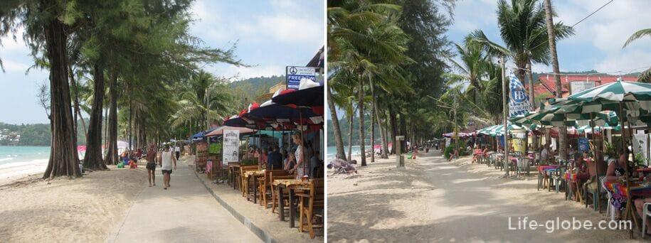 Cafe on the promenade, Kamala beach