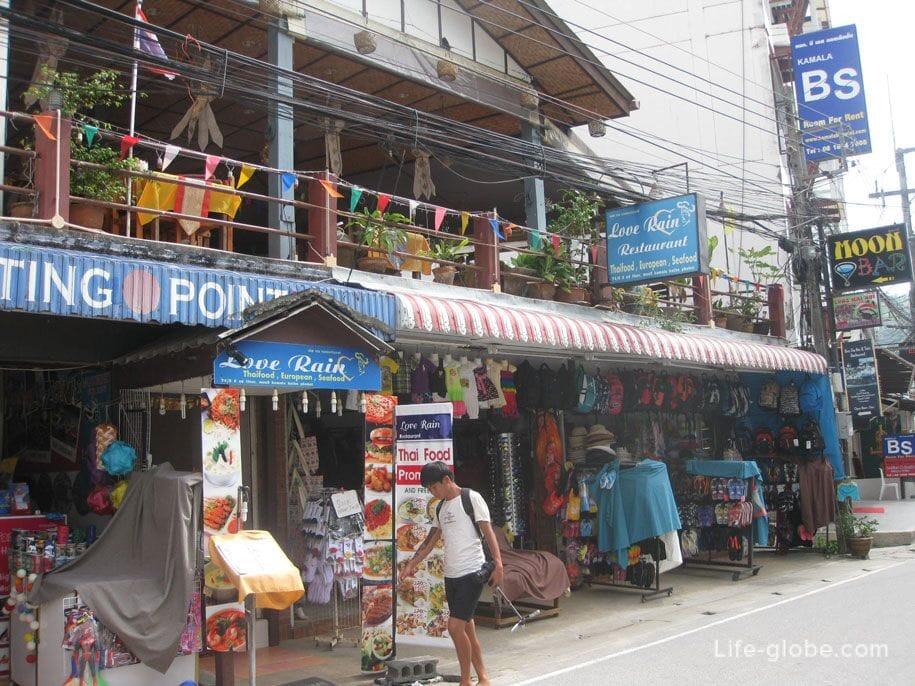 Central streets of Kamala, Phuket