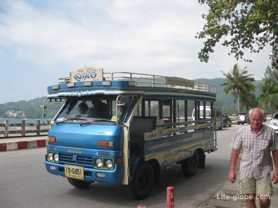 Bus Phuket town-Bangtao-Surin-Kamala