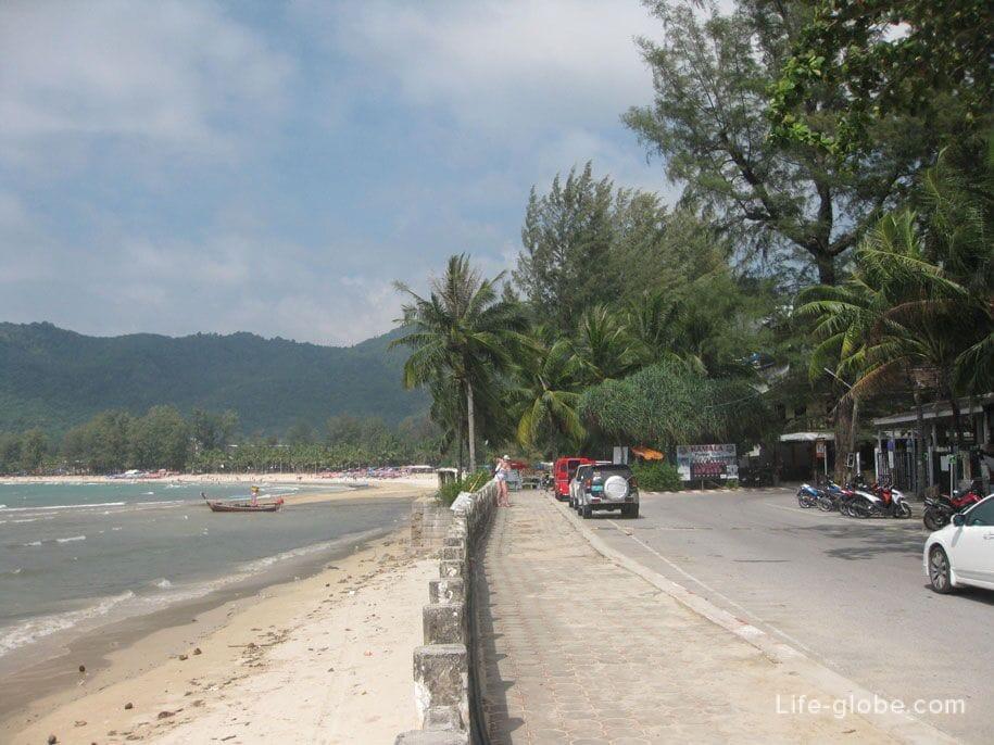 The southern part of the Kamala embankment, Phuket