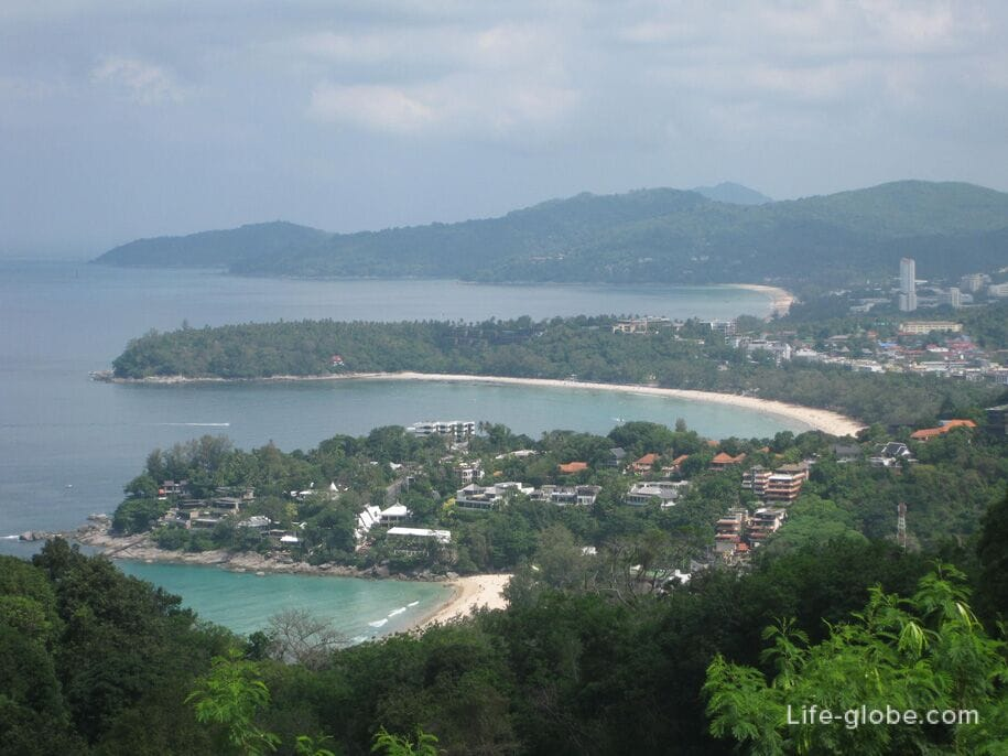 View from the Karon View Point - Karon, Kata and Kata Noi beaches