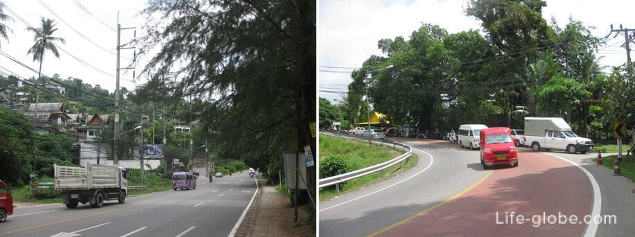 The road from Surin to Laem Singh