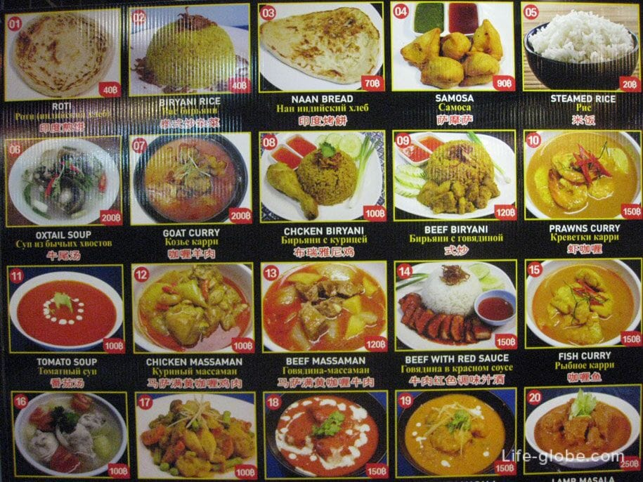 Prices Food Bazaar in Jungceylon shopping center, Patong