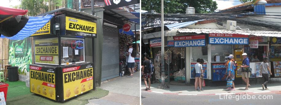 Exchangers in Patong, Phuket