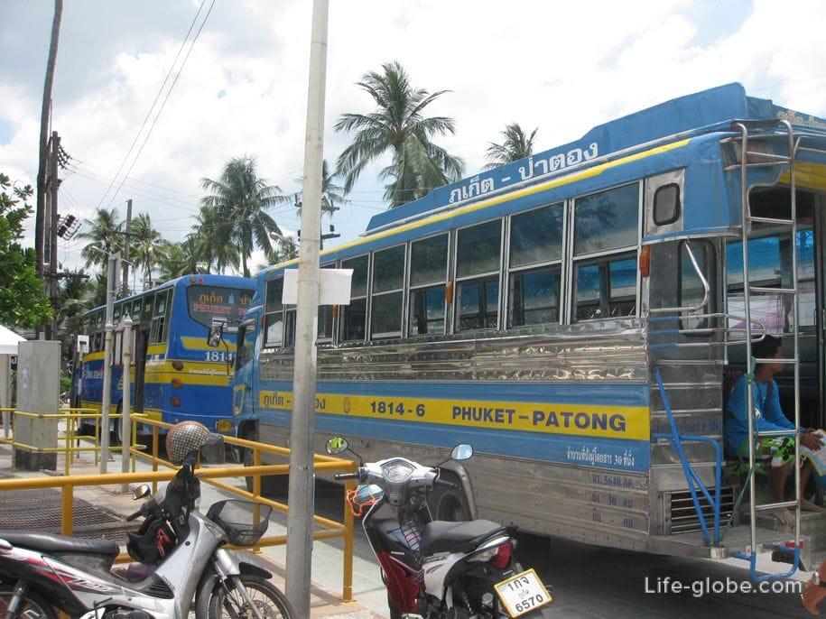 Автобусы на Патонге, Пхукет
