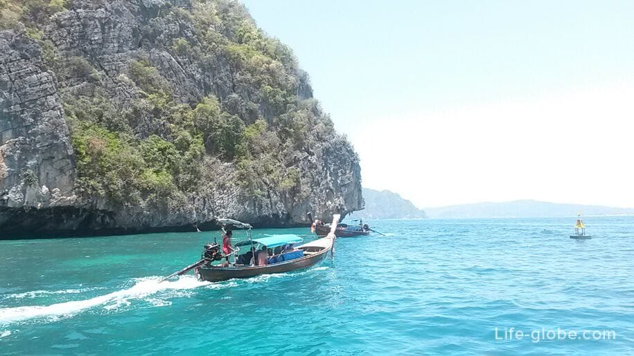 Excursion to the islands of Phi Phi in Thailand