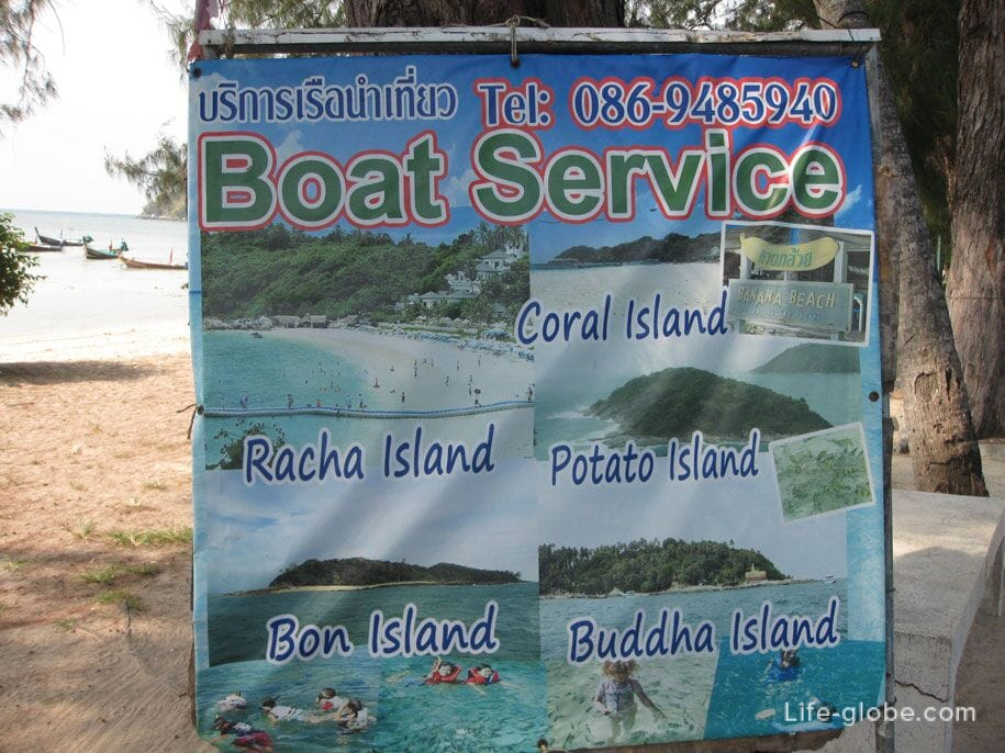 From Rawai beach to the nearest islands