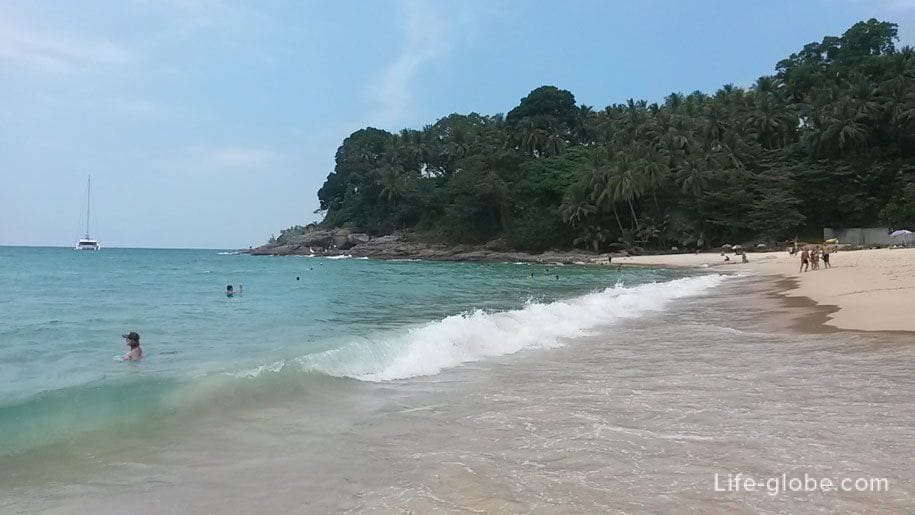 Sea on the beach of Surin, Phuket