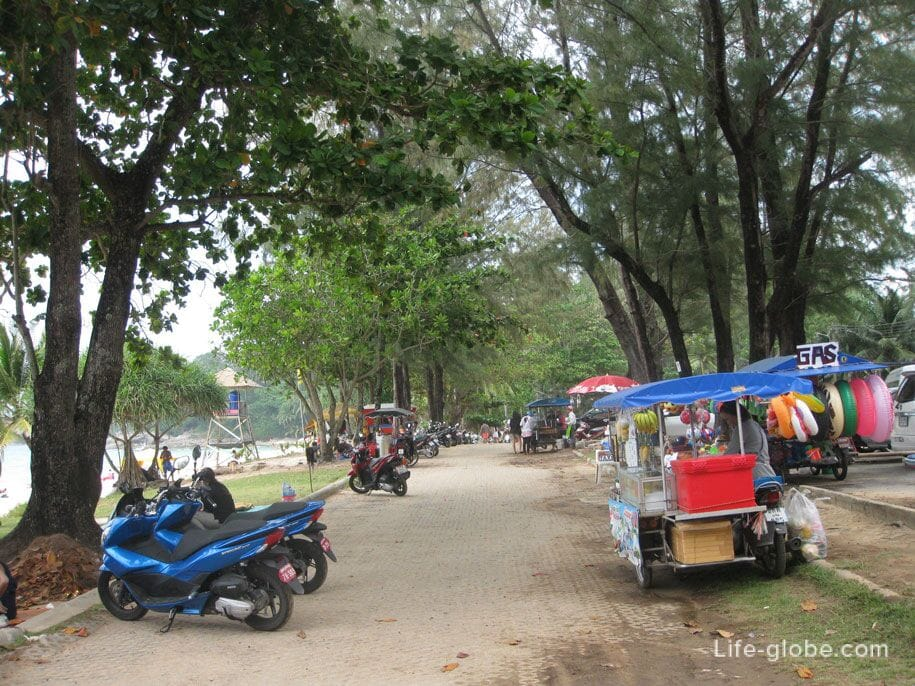Surin Beach Embankment, Phuket, Thailand