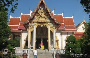 The Wat Chalong Temple in Phuket - the most visited temple complex of the island