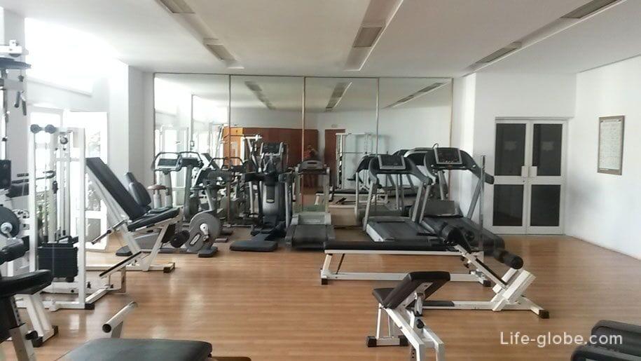 Gym at the hotel Djerba Plaza, Tunisia