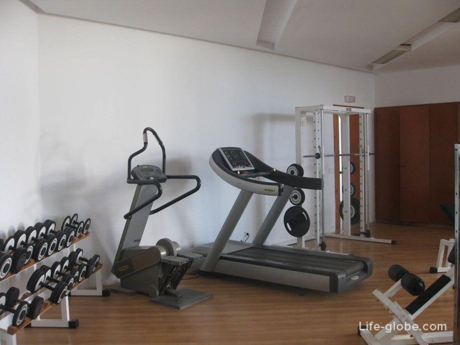 Gym at the Djerba Plaza Hotel, Tunisia