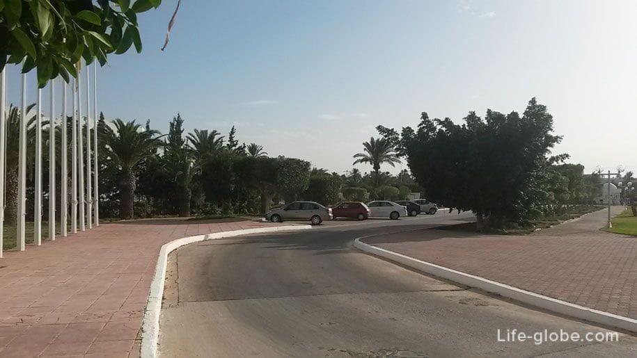 Parking at the Hotel Djerba Plaza, Tunisia
