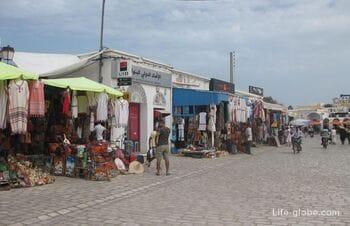 Houmt Souk, capital of Djerba island, Tunisia: market, Fort, port, amphitheatre and city