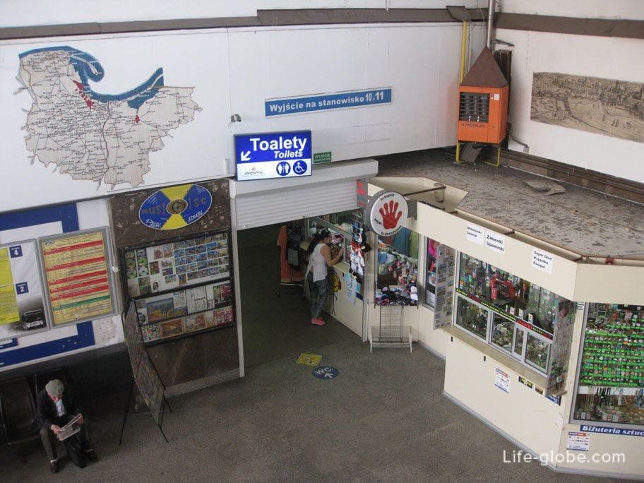 bus station Gdansk inside