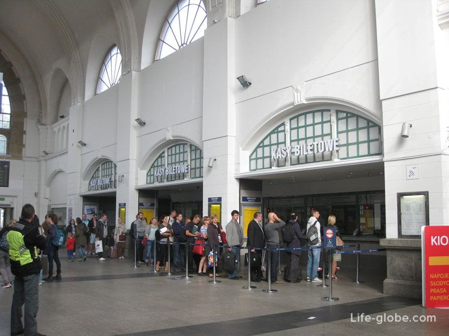 ticket offices of the railway station in Gdansk